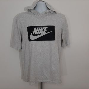 Nike Men's Hooded T-shirt Size Medium Gray SV24